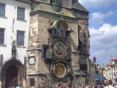 Astronomical clock in Prague town centre