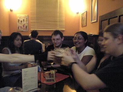 First night drinking in Prague